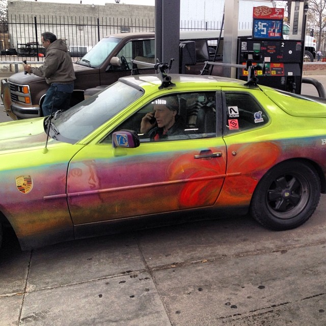 Might have to trade the A-Team van straight up with this #flylow beast. #custompaint #flylowporsche