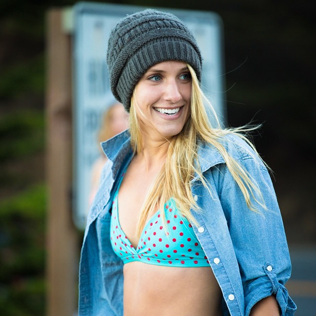 Kinda Fancy's Guide to Looking Cool: put a beanie and a denim shirt on it. Kinda Fancy's Guide to Boobies? That's on our FB page. #wegotyoucovered #fashionadvice #sanfrancisco #surfbikini