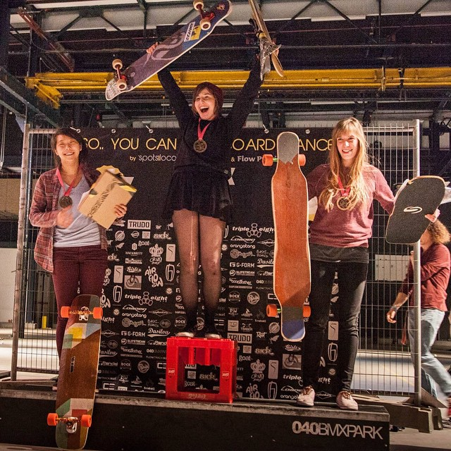 Congrats to the top ladies of the sponsored competition at #sycld  1st @giulia.alfeo  2nd @cindyzskates  3rd Deborah Keser