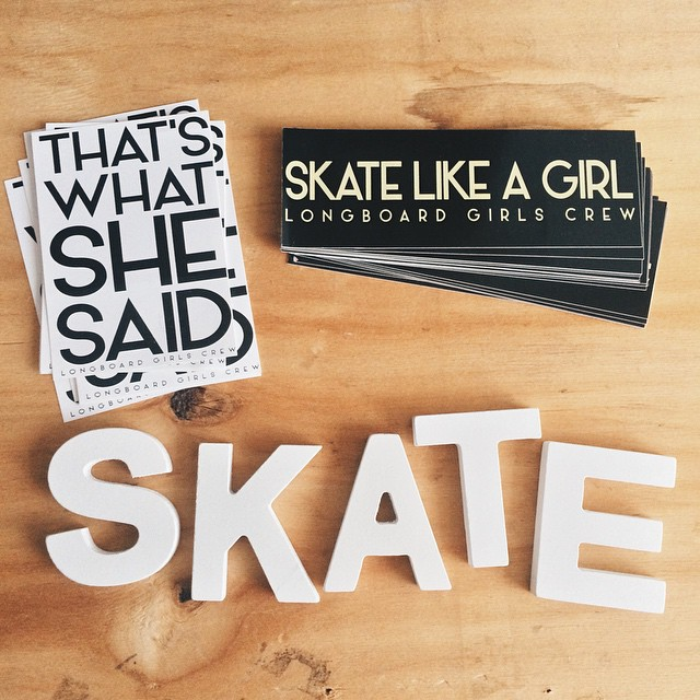 New #longboardgirlscrew stickers!  You can get some in longboardgirlscrew.com/shop  Big thanks @iconelongboards for the love & these! Also thanks to @glorifiziert for the inspiration & @sowirodriguez for the art.  #girlswhoshred #skatelikeagirl...