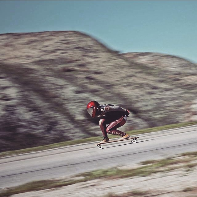 @sk8namaste going hard. Jeff Suchy photo. Go Caitlin!  #longboardgirlscrew #girlswhoshred #caitlinyong