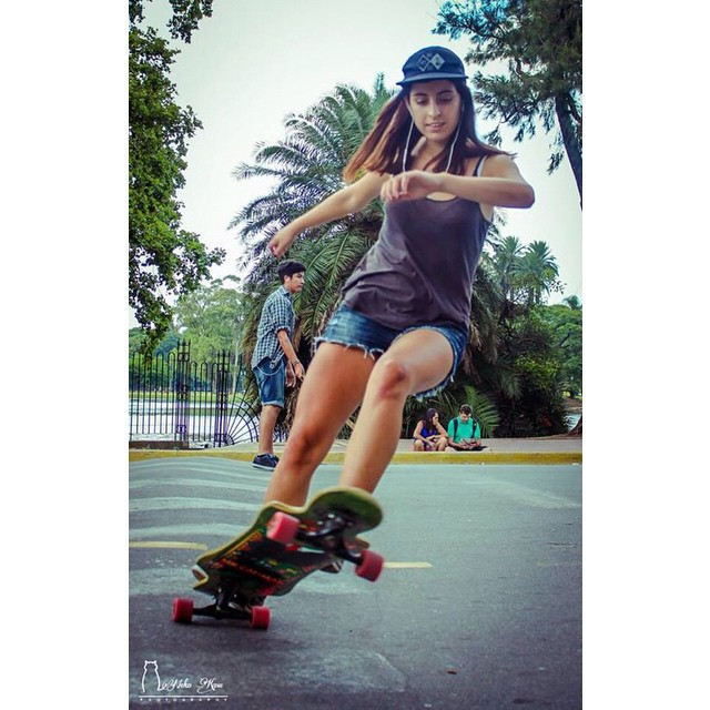 @camilahernandez127 during the II South America Girls Meet in Buenos Aires, Argentina. Full report coming soon! @nekolp photo  #lonboardgirlscrew #girlswhoshred #camilahernandez #buenosaires #argentina #Southamericagirlsmeet2014