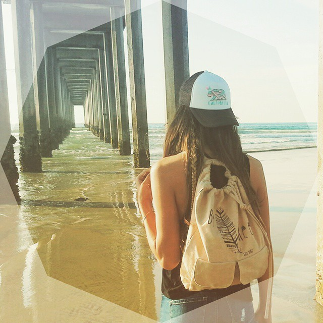 What do you plan to do with this one wild and precious life? #luvsurfapparel #wearthecalidream #befree #calibear #pierviews #seaside #escape #adventure #smile :) ---------------》》BE FREE backpack and CALIBEAR trucker hat available at...