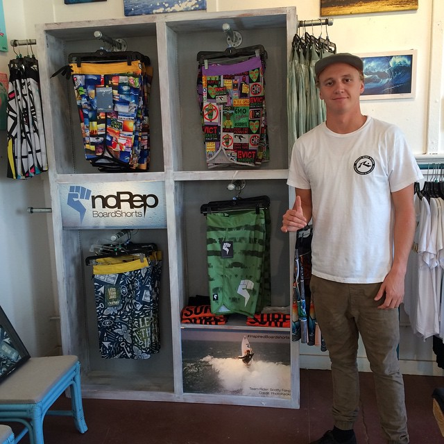 Stoked to see our boardshort rack display at @3rdstonesurf / Mahalo for ur support!!