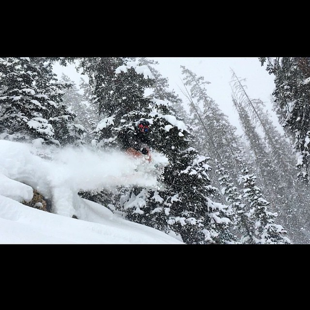 Marty sending in it in the Beaver Creek backcountry.  Solid storm day pic!