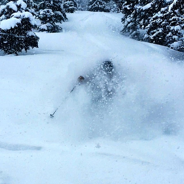 "There's a place called the ""Whiteroom"". It's what I dream of.  Skiing is deep @beavercreek right now! @unofficialnetworks #powderdayz"