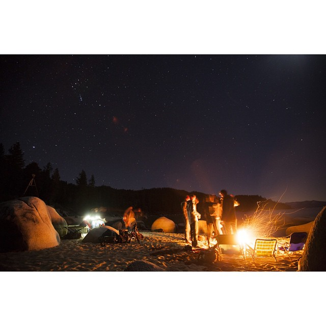 Our boy @ben_arnst couldn't have captured this moment any better a few weeks ago during a warm winter night on the lake. Looking forward to more fire-infused evenings in the near future. _ #desolationsupply #DESO #thisistahoe #itswayoutthere