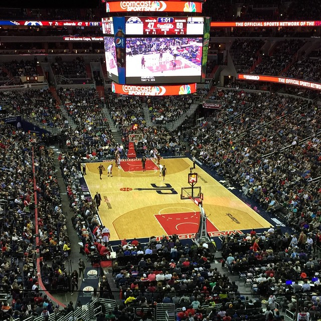 It's easier to #findthesun from the club level. Great seats and great company to watch the #wizards game tonight with the 2015 #mindshare class #ceo #networking #dmv