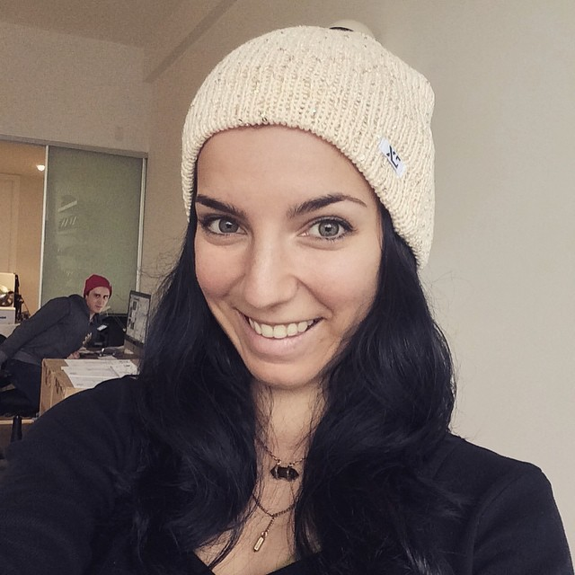 @cocomarii wearing one our new XS beanies now in stock on our shop page! 98% cotton and 2% gold lurex #xshelmets #slouchy #beanie #sparkle #gold #forgirlswhoshred #whosthatdudelurking
