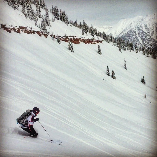 @ericmlandry having a better day than most. PowderKeg. East Vail. #colorado #mhmgear