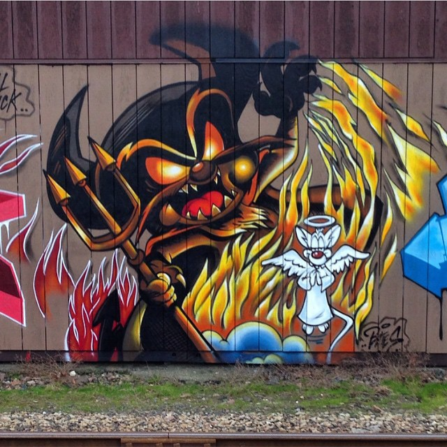 Pinky and the Brain #dope #cartoon #graffiti #streetart