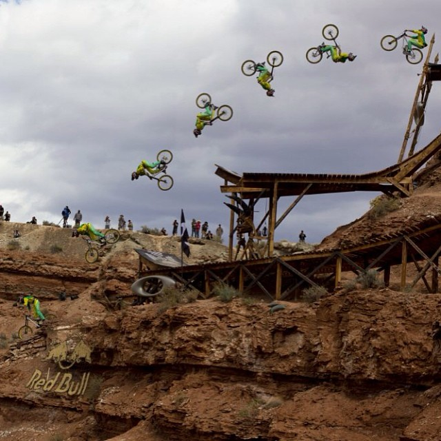 The view's much better upside down... #Rampage  Check out all the action on NBC, 3:30PM ET. Photo by John Gibson.