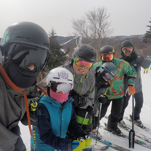 An amazing day with friends and great snow at @sugarbush_vt // #skitheEAST #FATskiathon // @vtnorthskishop