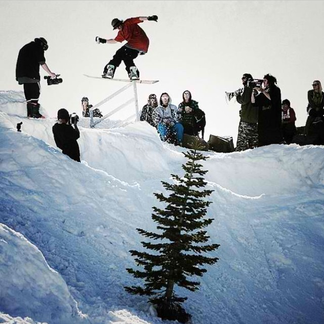 Throwback Saturday- @_swells_ with beer in hand, stomps a back tail at the #GremlinGames in Tahoe in 4:20.