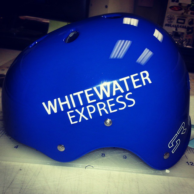 Just finished up some rafting helmets for @whitewaterexpress! #urban #whitewater #chattahoochee