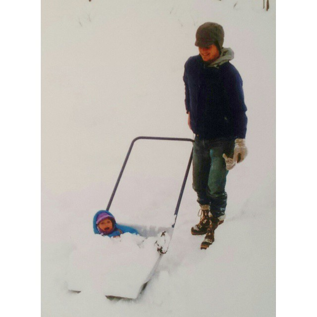 My snow stoke has always been high, even as a young grom. Cheers to the fresh flakes! Keep it coming!