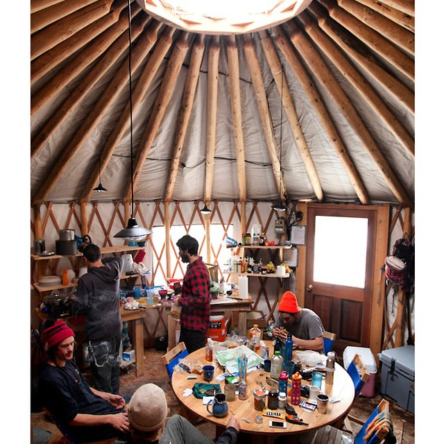 Taking it back to #YurtLife in #CookeCity Montana with the squad. Spent a week in this beaut, tucked away in the mountains at 9,500ft. #GetOutside #TBT #TooMuchChowda | @chrisrasman @shaunmmckay @curtiswoodman @eldulche @drewbiedooby @tackittphoto