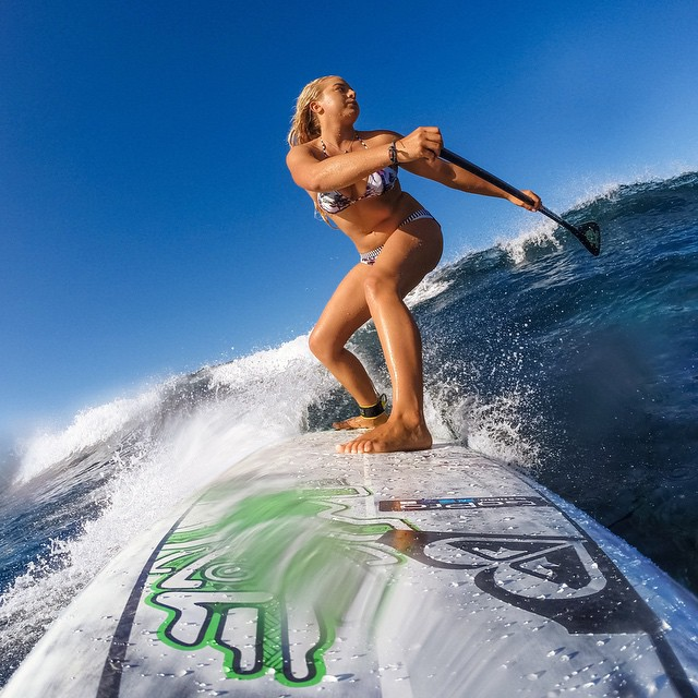 15 year old female world SUP champion joins the family! @_izkhalifa, you're pretty rad. #GoPro