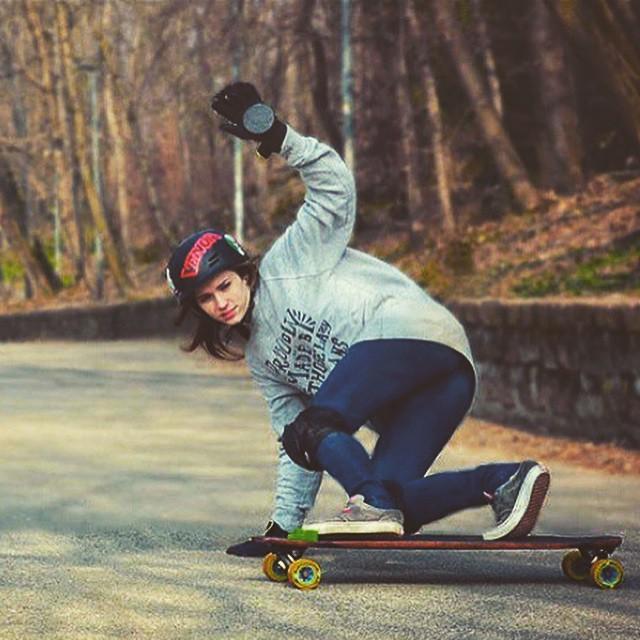 Alice Chiesa from @longboardgirlscrewitaly shot by Maik P. Now go out and skate!  #longboardgirlscrew #girlswhoshred #lgcitaly #alicechiesa