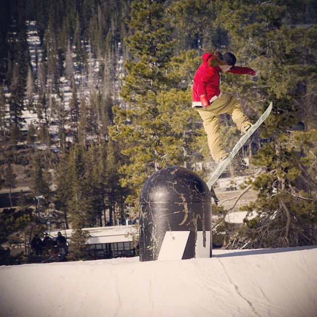 A little #flashbackfriday for everyone. Before the #NeffLand rebuild at @borealmtn, @lallylallybostonsteve was nailing these tweaked nose tap backside 180s on the Armada bonk. Every time he gets on hill his job and rail game is on point....
