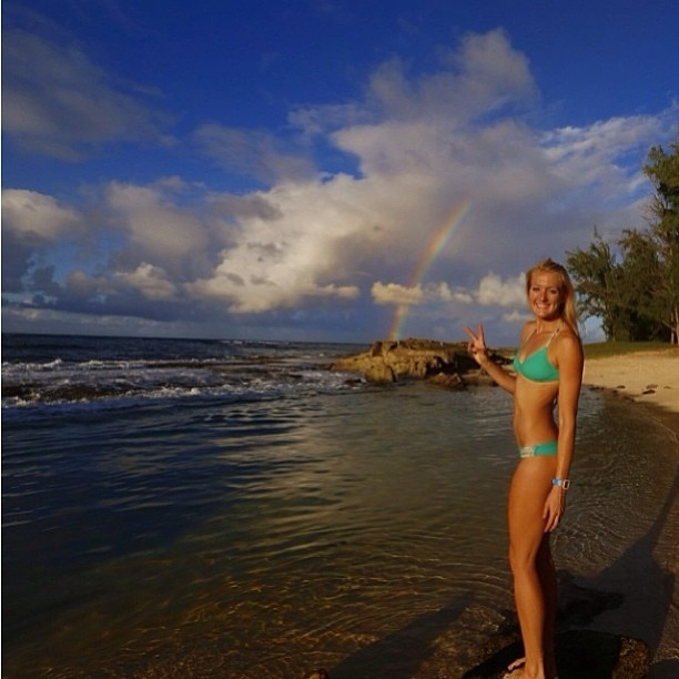 @emilybates11 with an #amazing #saturday #rainbow !! Get out and #enjoy and #vote thesurfchannel.com @thesurfchannel
