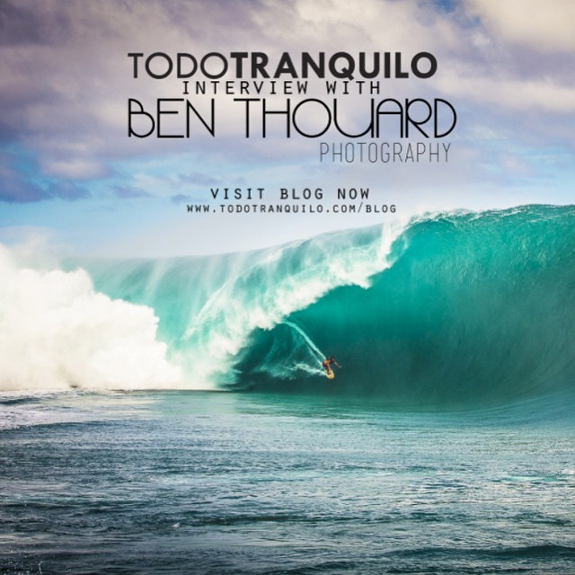 Todo Tranquilo had the blessing to catch up with Ben Thouard and talk about his love and passion for surfing and photography. Stop by the blog and check it out. Link on bio. Happy Friday! @benthouard #benthouard #todotranquilocompany #surf #thearts...