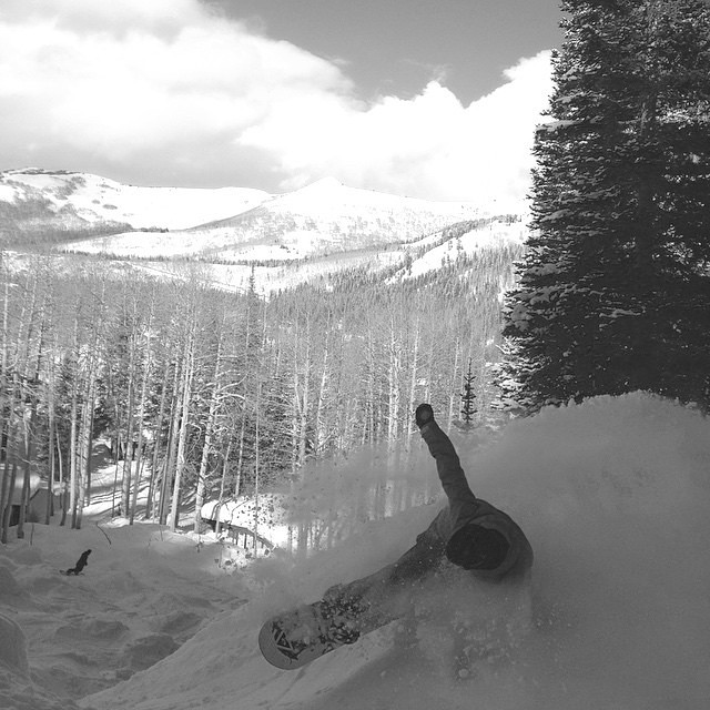 Anyone ready to get barreled in #fineliving like @overjon this weekend? It would appear that @brightonresort has a snowy forecast.