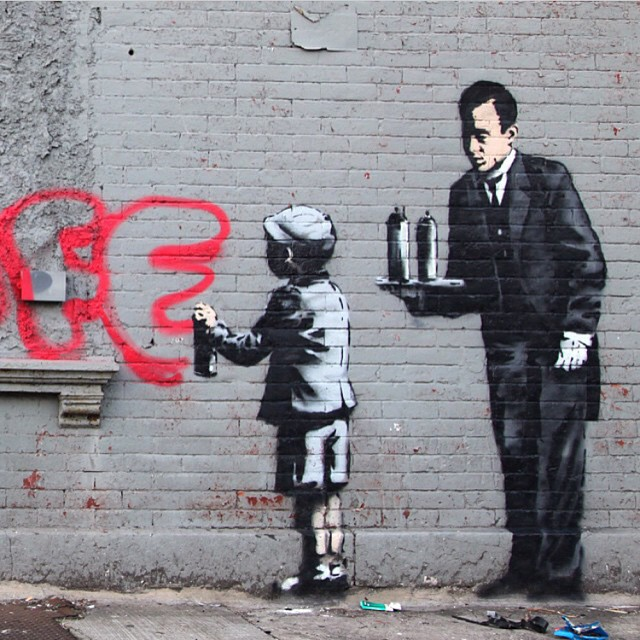Work by @banksy.co.uk • South Bronx