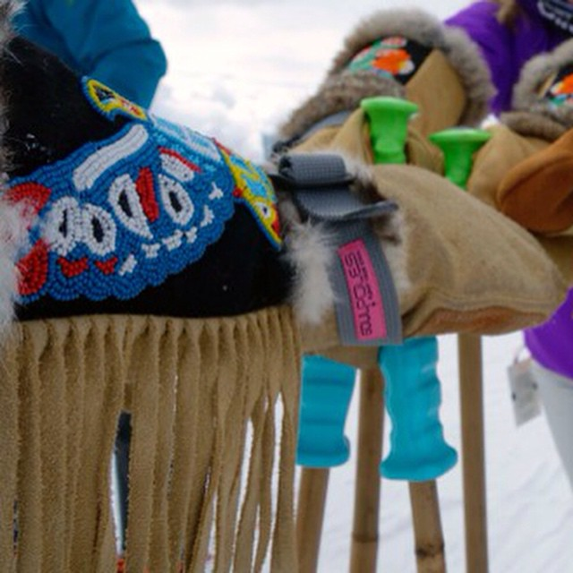 Fringe with benefits #bambooskipoles and @astismittens  #staywarm