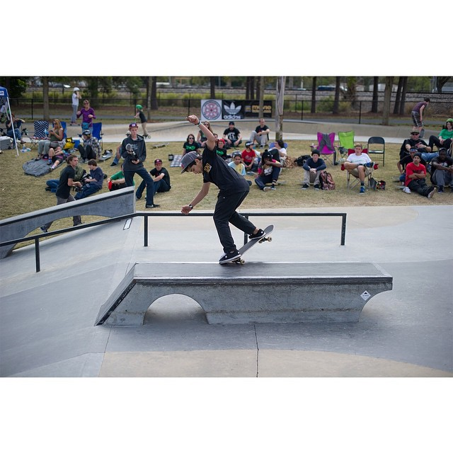 15-year-old @angelo.caro flew all the way from Lima, Peru, to compete at #TheBoardrAm Tampa today!  Action begins at 11 a.m. ET at Bradenton Riverwalk Skatepark! (