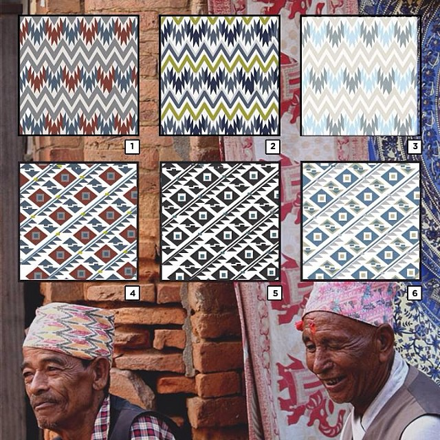 Our Dhaka collective in Nepal is about to start weaving a couple new patterns for Winter '15. We want your help to decide which pattern to choose. Let us know your favorite and watch it get woven into fabric and into a new bag or accessory in a few...