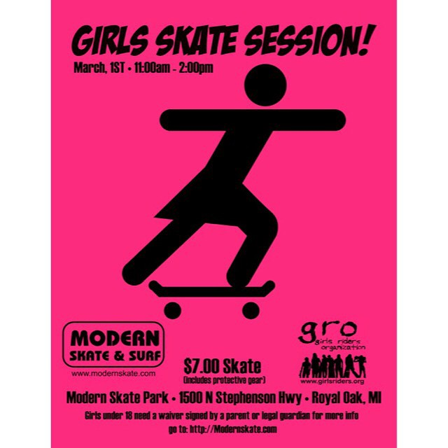 #grosession @modernskate tomorrow!!