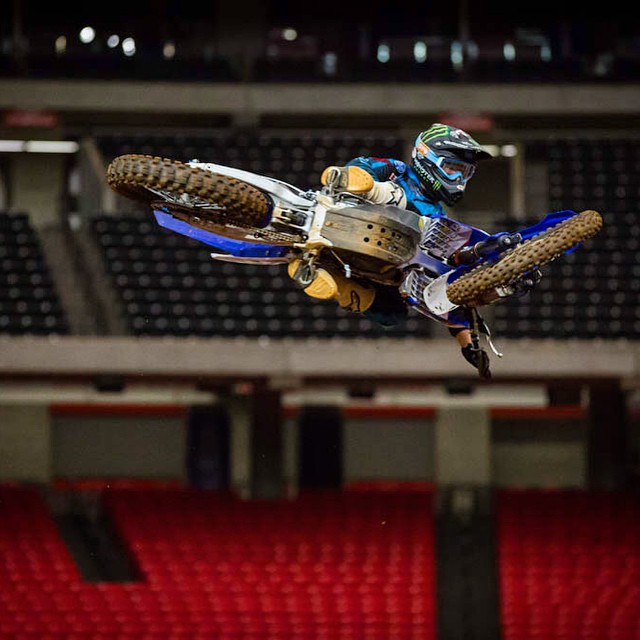 We're Happy to watch @joshill75 send it tonight at #AtlantaSX.  Photo: @cmfk524 #SEEHAPPY