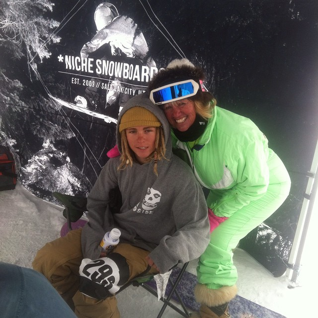 """You have the prettiest blue eyes I have ever seen...good thing I'm not a cougar..."" Tristin Heiner (@touchaheiney) taking time out for his fans today up at @brightonresort @slugmag #sluggames"