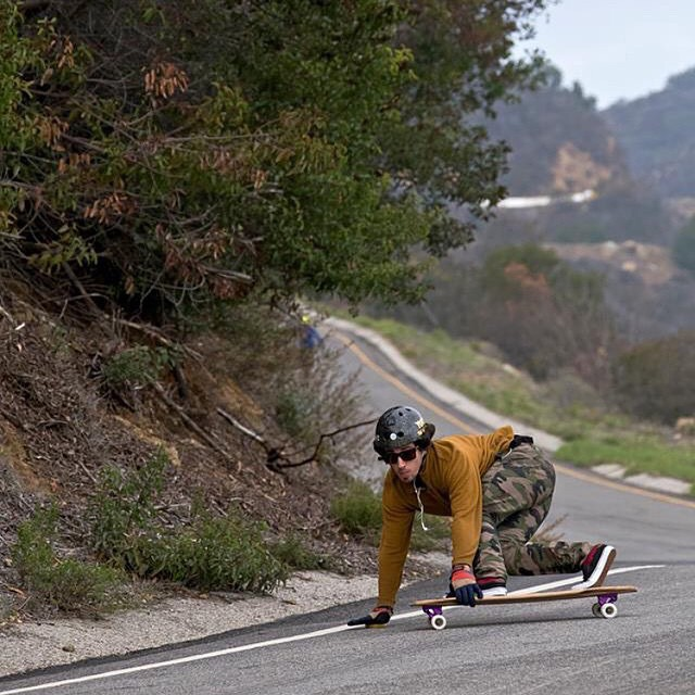 @f_cooper_d slays Malibu hills harder than most, and does so with style on his #purplesatins photo: Dustin Hampton