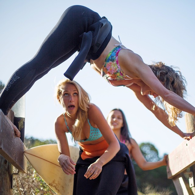 It was a gooooood weekend. #sundayfunday #kindafancy #surfgirls
