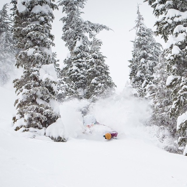 It finally snowed at @squawalpine and Flylow's @aengerbretson got the goods.