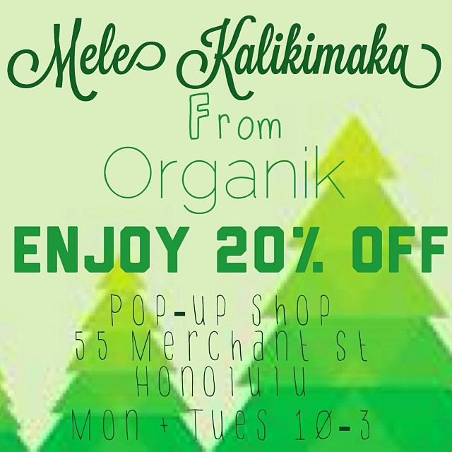 Ho Ho Ho! Enjoy 20% off #organik #ecofriendly #sustainable #organic #clothing, accessories, @1stmate wallets, #alohasailor #nautical #tees & #art by @yellowbirdbohemia & SSBlues at our #holiday #popup shop in #umamicafe #honolulu. #melekalikimaka #xmas...