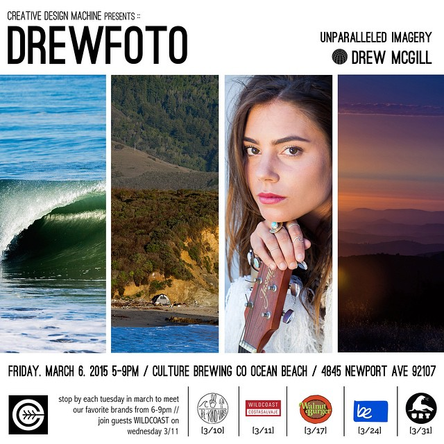 San Diego tribe! Ambassador and our lead photographer @drewfoto will be showcasing his unparalleled imagery at Culture Brewing Company in Ocean Beach for the month of March. Launch party is this Friday from 5-9pm. We'll also be having a pop up shop...