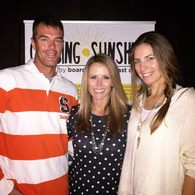 We're about to start the Vail premiere of B4BC's Chasing Sunshine documentary following Megan Pischke's breast cancer journey, and we have some familiar faces showing up to support at Bōl Vail!  @tristasutter @ryansutter @megsporcheron...