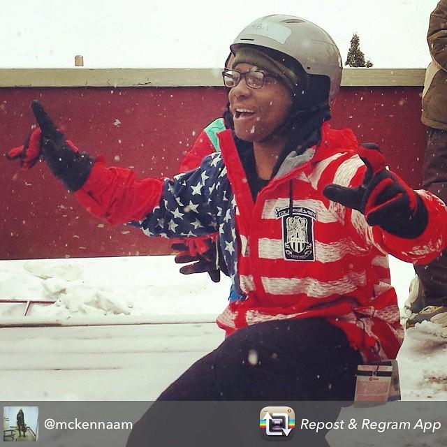 Thanks @mckennaam for sharing this awesome #stokedmoment! #stokedorg #stokedny #snowmentor #shredding