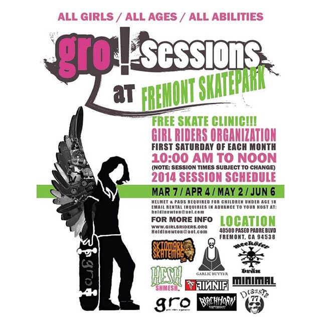 Session this Saturday at Fremont skatepark