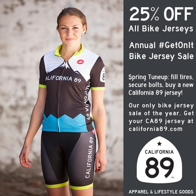 And be ready to ride that trail with your own #CA89 bike jersey. 25% off in our #GetOnIt sale at california89.com/store/sale