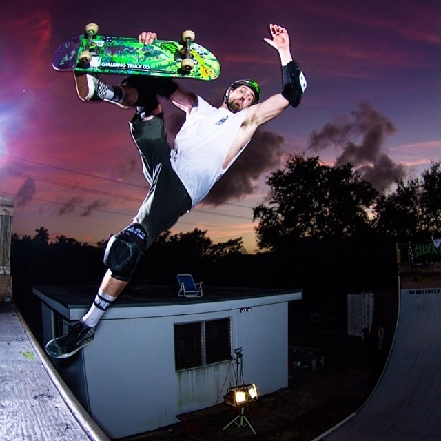 RegrAm @MattRoy of @scizzorsman #boneless . Scizzors wears the #s1 #lifer #helmet . @creaturefiends @gullwingtruckco #skateboarding #purplesunset