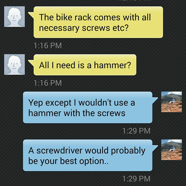 Oh boy... #homeimprovement #home #bike #bikerack