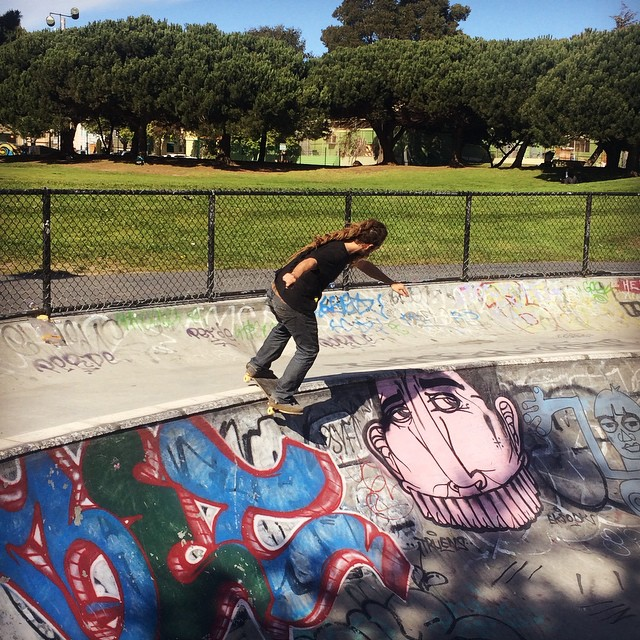 Say word?! Word.  Team rider Adrian Da Kine--@adrian_da_kine board sliding Potrero in San Francisco!  #adriandakine #dakineskateboard #bonzing #sanfrancisco #skateeverything