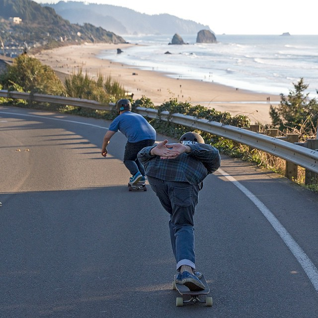 Taking in the view while longboarding through Cannon Beach, Oregon. #oregon #cannonbeach #pacificnorthwest #upperleftusa #longboard #longboarding #longboarder #dblongboards #goskate #shred #rad #stoked #skateboard #skateboarding #skateboarder...