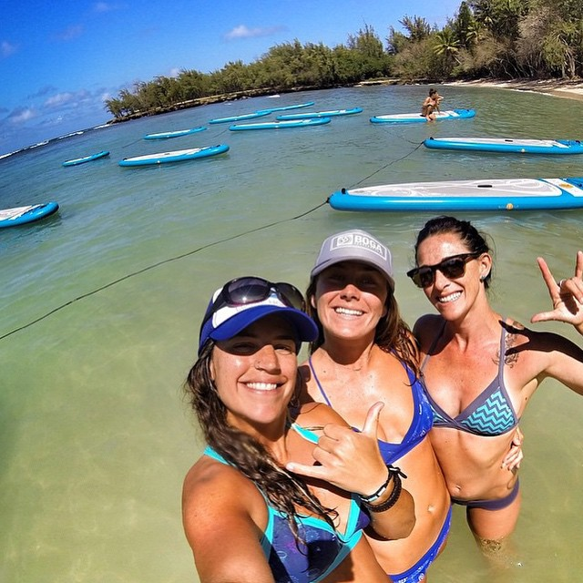 So grateful for the awesome and talented Local Honey team we had at the @wanderlustfest @turtlebayresort on Oahu last weekend! Check out their special Bala Tula Sunrise SUP Yoga class tomorrow at the Wailea Marriott Maui at 7 am. @nautilussup @sehsa...