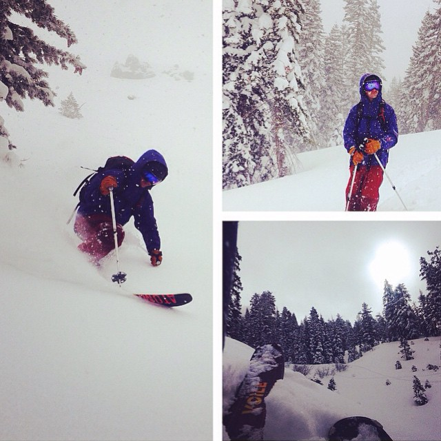 Tahoe pow hunting with @flylowdan and @flylowgreg. #embracethestorm