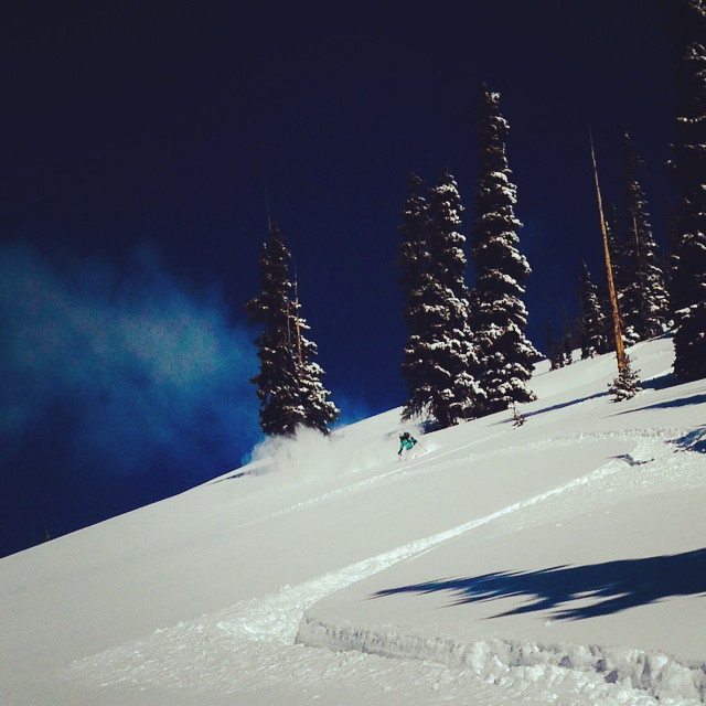 Happiness is...#IAmSJ #powderpigs #ladyshred #bluebird #skiing #adventure